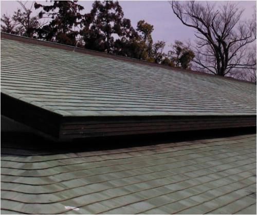 太陽光パネル設置予定の社務所屋根