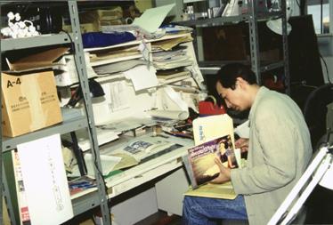 4. 1995年5月「耳をすませば」制作時の近藤喜文、撮影=竹中博信
