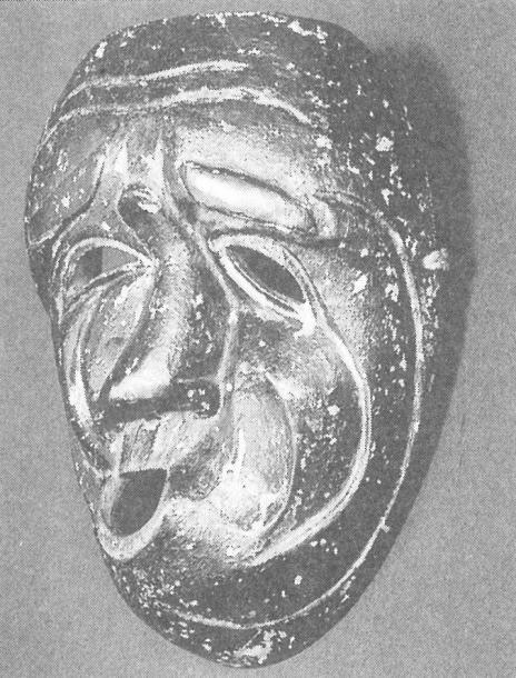 「ウソフキ面(秋田)」です。 『民俗と仮面の深層へ』246ページ