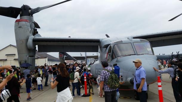 普天間飛行場から飛来した米海兵隊のオスプレイ@三沢基地.