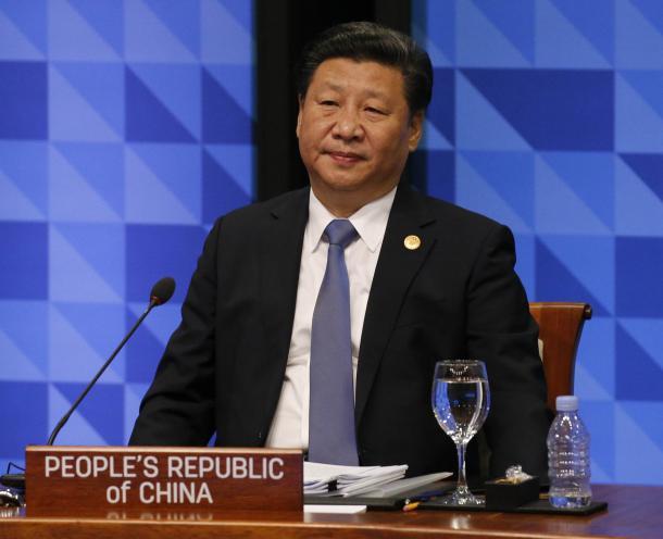 APEC首脳会議に臨む中国の習近平国会主席=2015年11月19日、フィリピン・マニラ、代表撮影