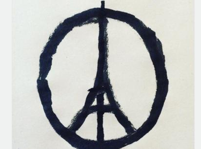 フランス人イラストレーター、ジャン・ジュリアンが描いた「Peace for Paris」