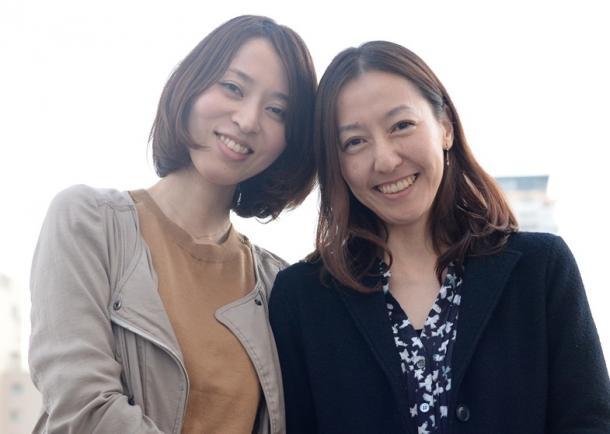 「ハッピーアワー」主演の菊池葉月さん(左)と川村りらさん
