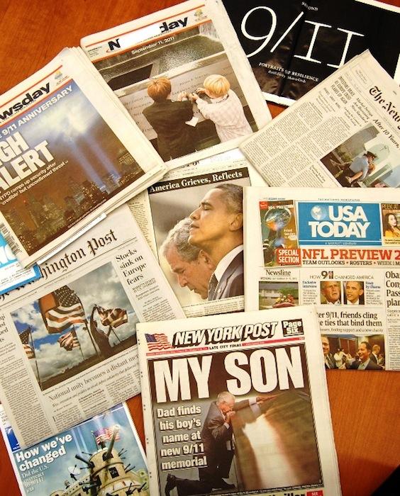 ニューヨーク圏で発行されている主要紙=筆者撮影