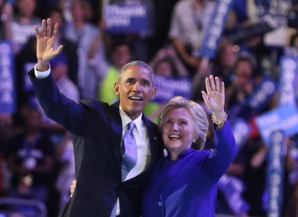 オバマ大統領とクリントン前国務長官