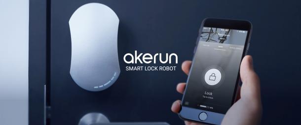 アプリからカギの開閉を可能にする「スマートロック」、Akerun(アケルン)
