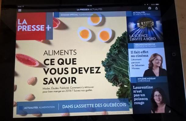 ラ・プレス+(プラス)の画面