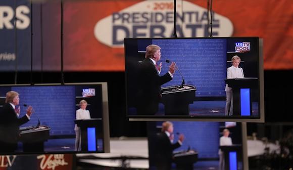 米大統領選でのテレビ討論会と支持率の関係