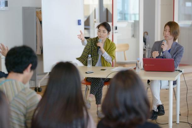 勝部元気さんと、オンライン署名プラットフォーム「Change.org」の武村若葉さんをナビゲーター
