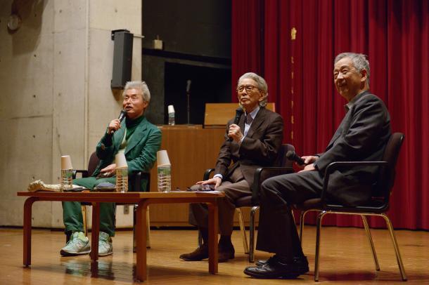 鎌田東二さん(左)、五木寛之さん(真ん中)、島薗進さん(右)
