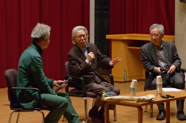鎌田東二さん(左)、五木寛之さん(真ん中)、島薗進さん