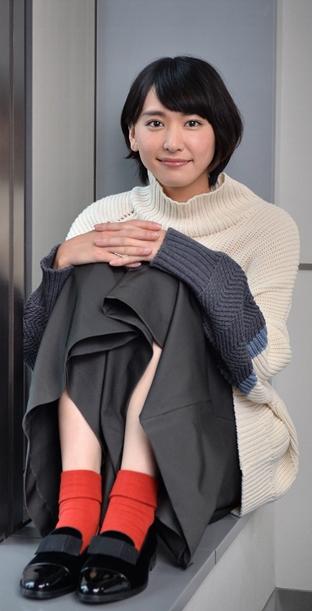 TBSの連続ドラマ「逃げるは恥だが役に立つ」で主演している新垣結衣=2016年10月8日