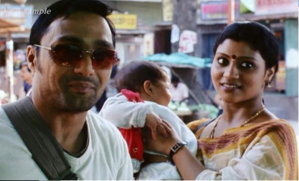 偶然出会ったイスラム教徒の男性とヒンズー教徒の女性=映画「ミスター&ミセス・アイヤル」