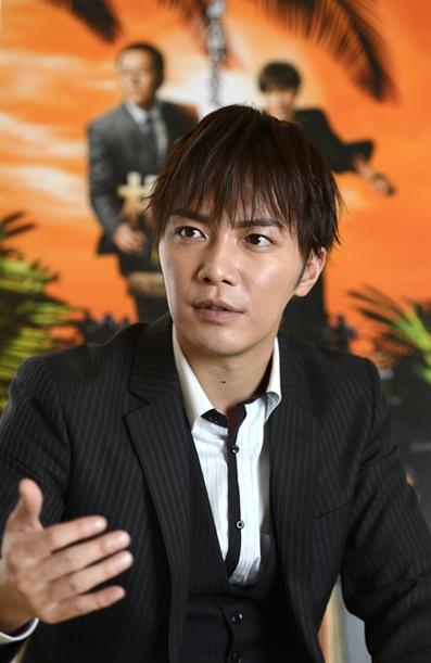 芸能界からの引退を表明した成宮寛貴さん=2014年4月16日、福岡市