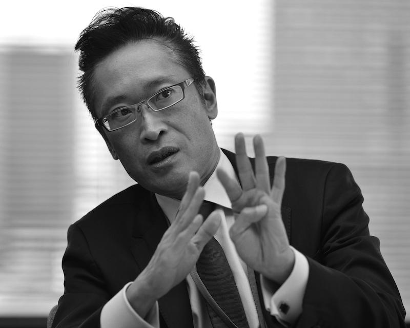 八田亮一・日本経済新聞社編集局デジタル編集本部メディア戦略部長(吉永考宏撮影)