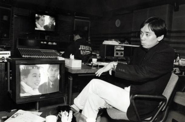 東京ラブストーリー特別編」の音入れ作業をするフジテレビの大多亮プロデューサー 1993
