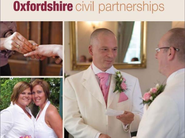 英国では2005年から、同性同士のシビル・パートナーシップ制が導入されている(オックスフォード州による手引書の表紙)