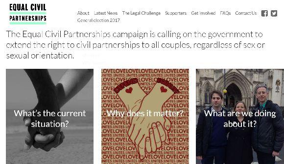 シビル・パートナーシップ制と異性カップル