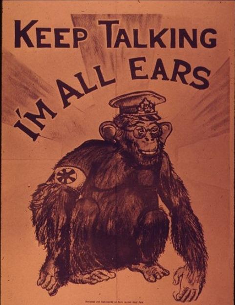 【写真8】  https://commons.wikimedia.org/wiki/File:%22Keep_talking_I%27m_all_ears%22_-_NARA_-_514812.jpg