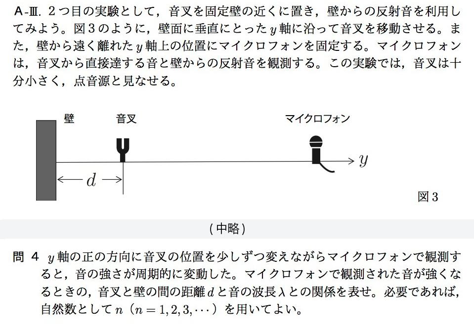 写真・図版 : ミスが見つかった大阪大学の物理の問題の一部