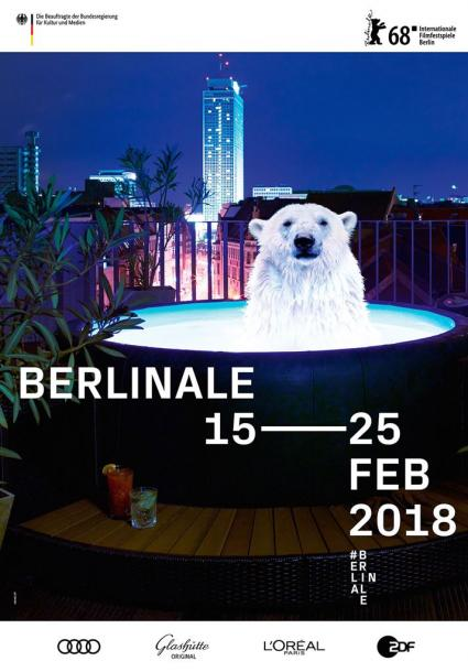 2018年の第68回ベルリン国際映画祭のポスター ©Internationale Filmfestspiele Berlin/Velvet Creative Office
