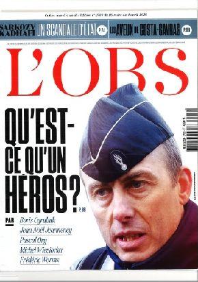 左派系週刊誌「ヌーヴェル・オプセルヴァトール」も表紙にベルトラム中佐の写真を掲げて敬意を表した