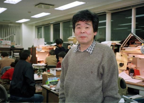 写真・図版 : 東京都小金井市のスタジオジブリで=1999年
