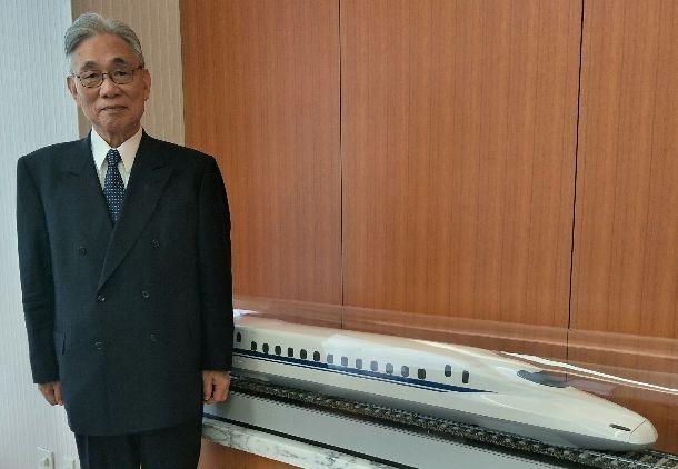 葛西敬之・JR東海名誉会長=2017年10月31日、東京品川のJR東海、吉岡桂子撮影