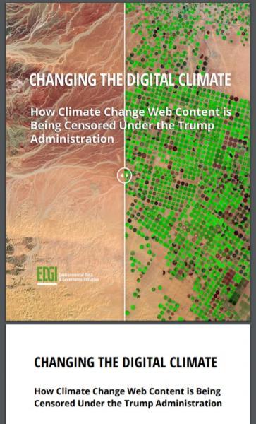 トランプ政権での書き換えをまとめた民間の調査リポート「CHANGING THE DIGITAL CLIMATE」
