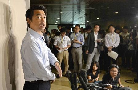 堺市長選敗北後の橋下代表の求心力